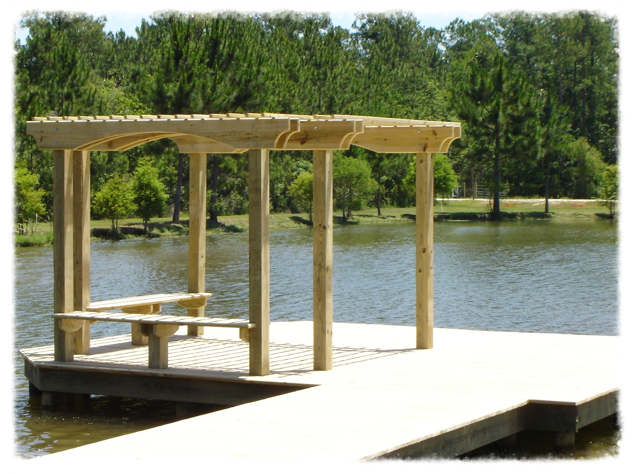 Timber Pier with Pergola