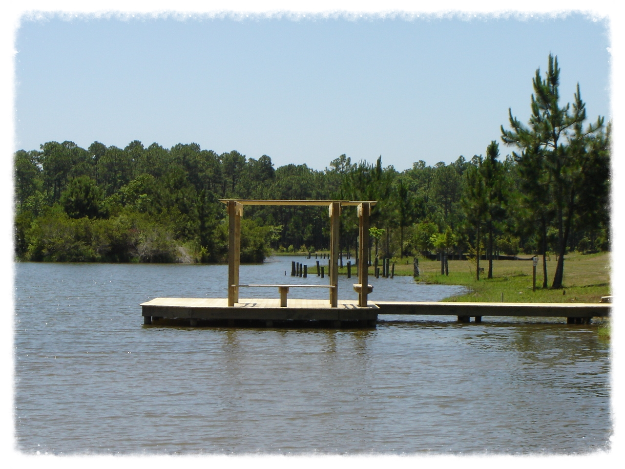 Dock with Trellis