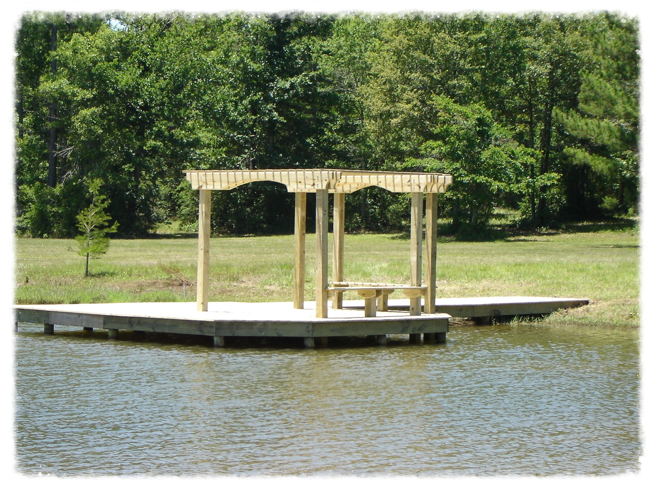 Dock with Shade Trellis
