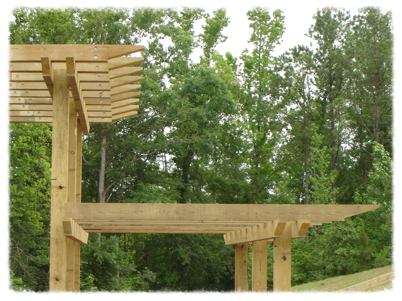 Pergola Tiered Entrance