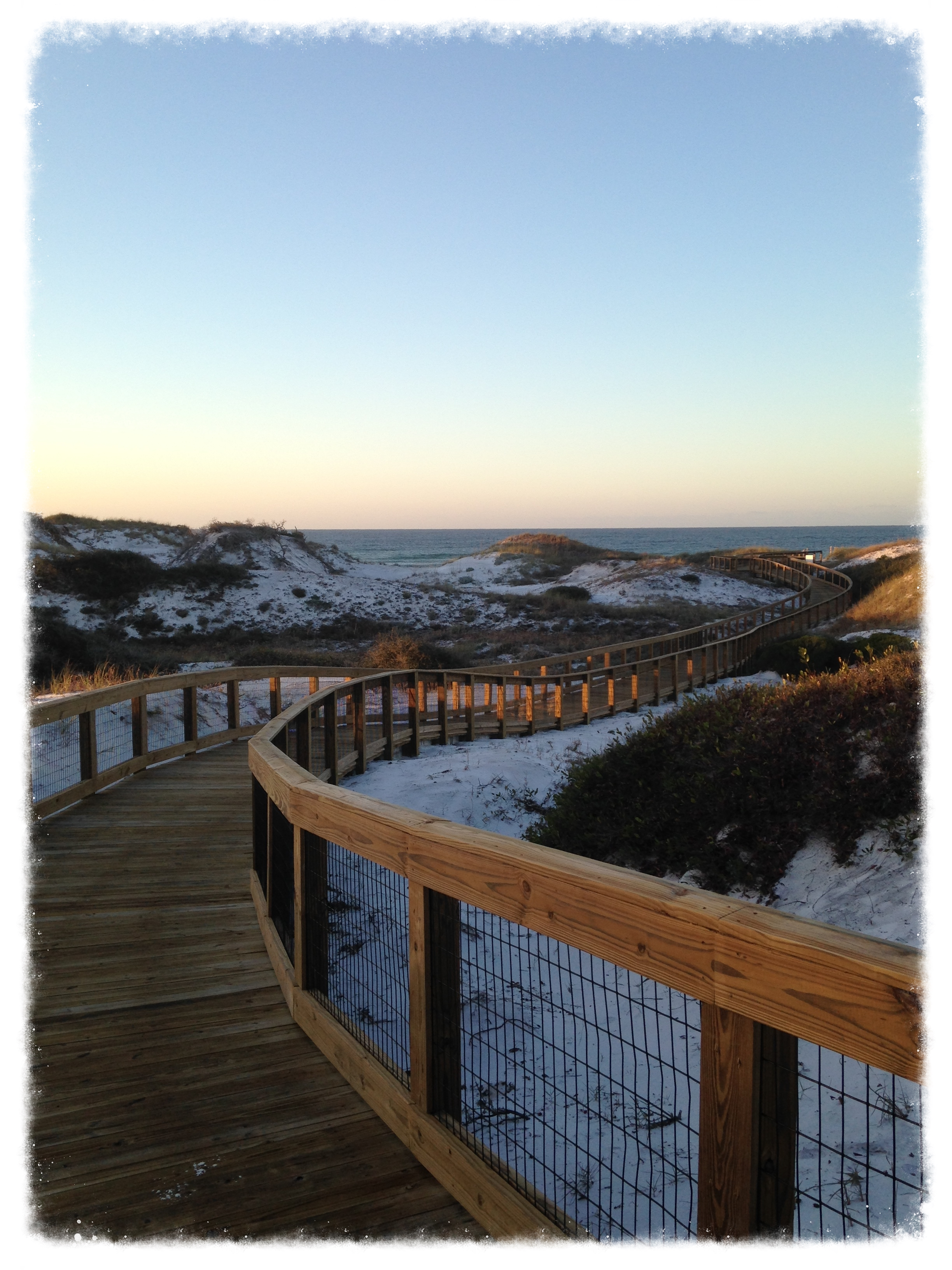 Beach Boardwalk with Handrail