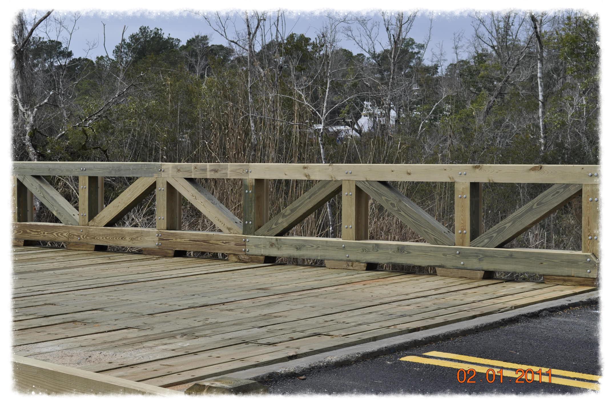 Vehicular Bridge with Guardrail