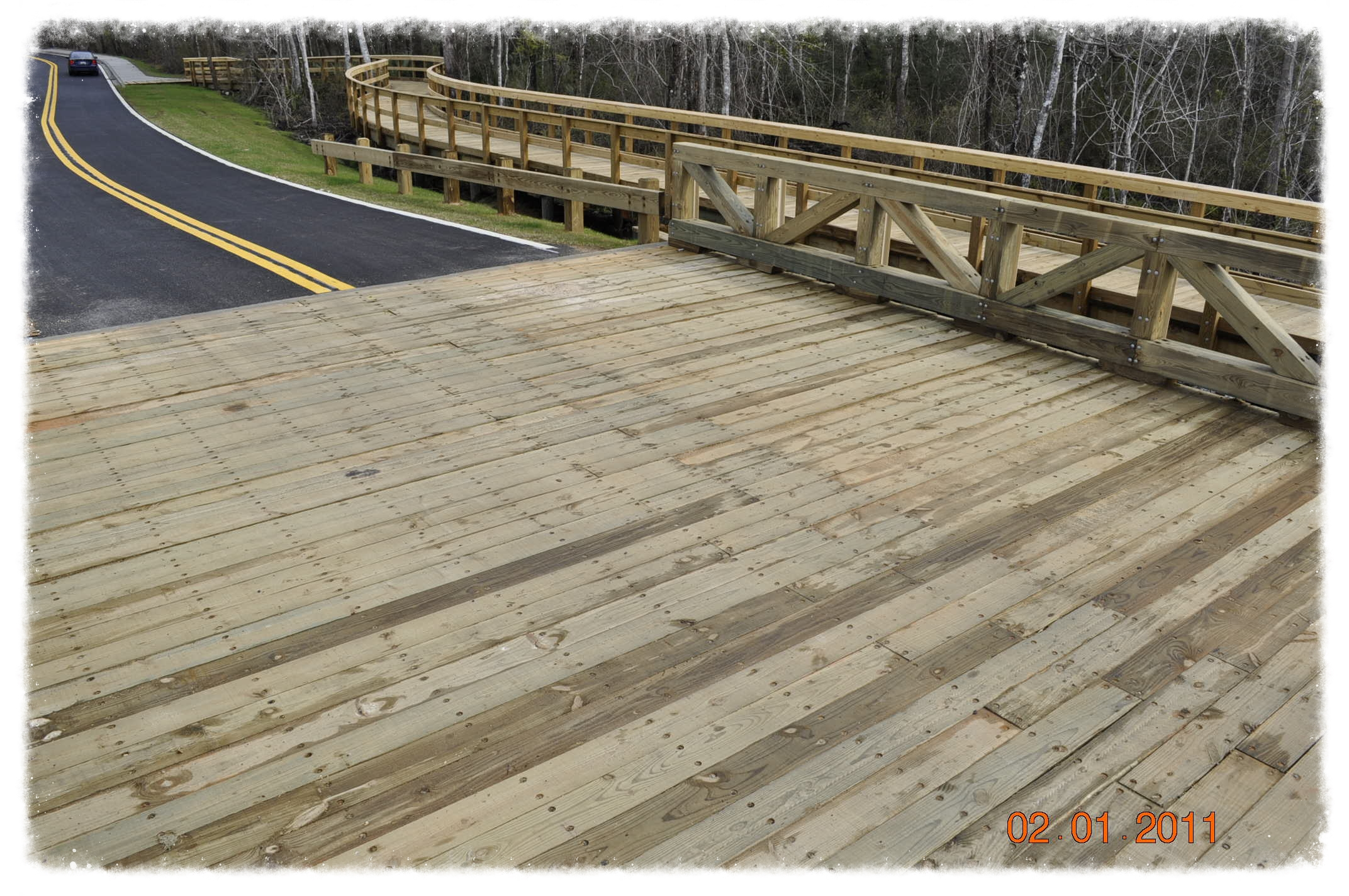 Vehicular Bridge with Boardwalk