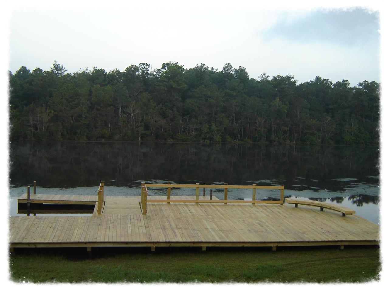 Wood Pier with Boardwalk