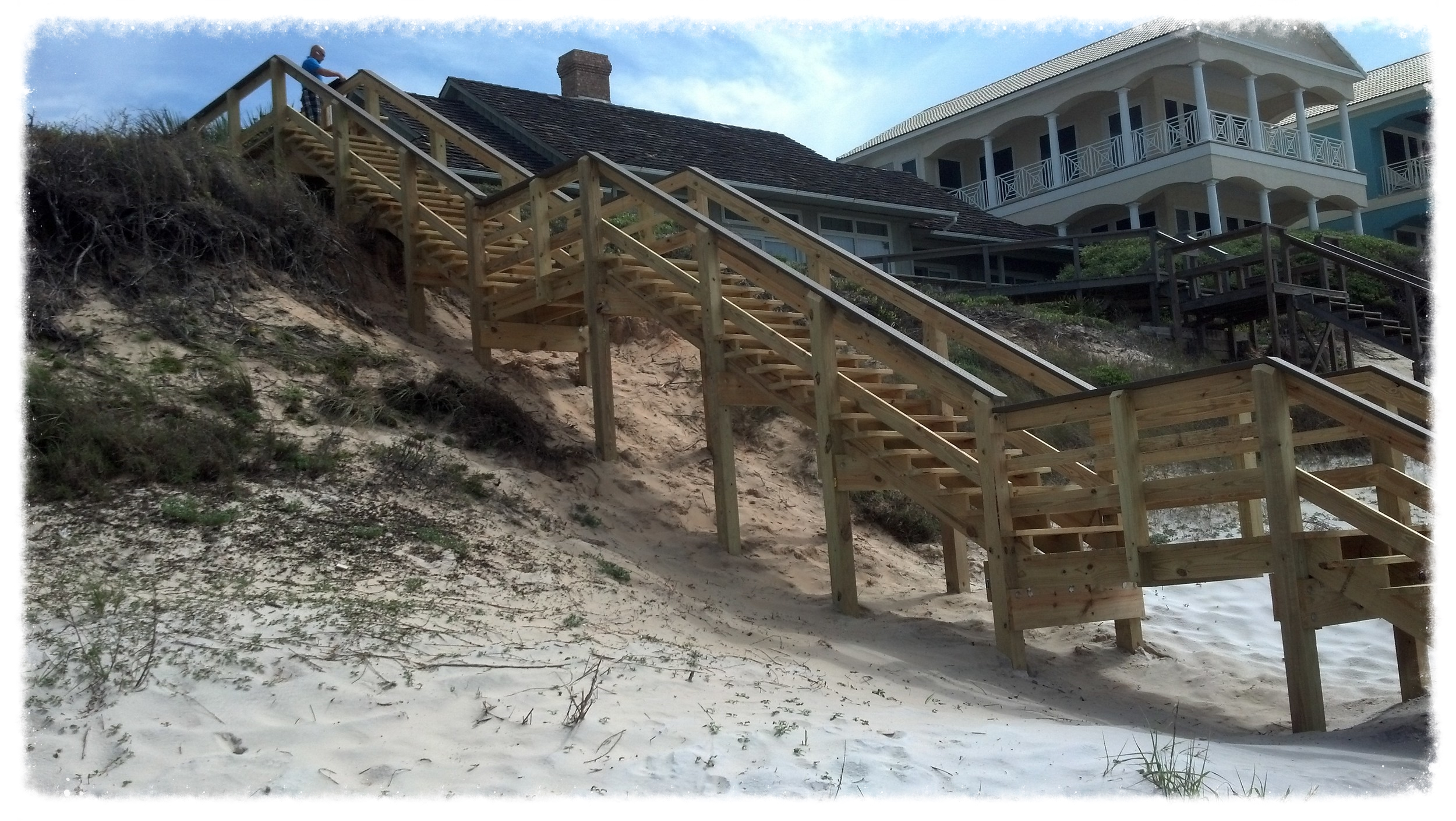 Boardwalk with stairs