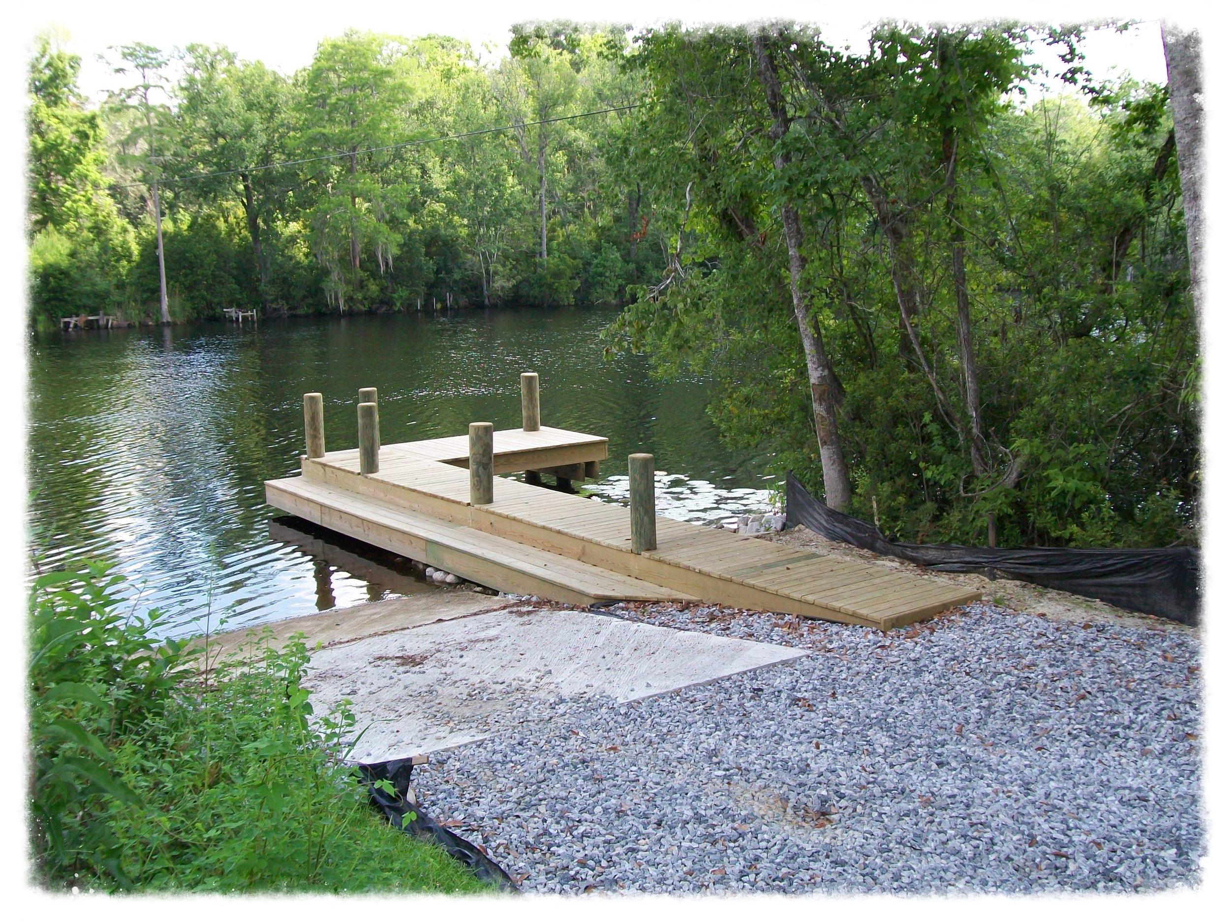 Boat Dock with Boardwalk