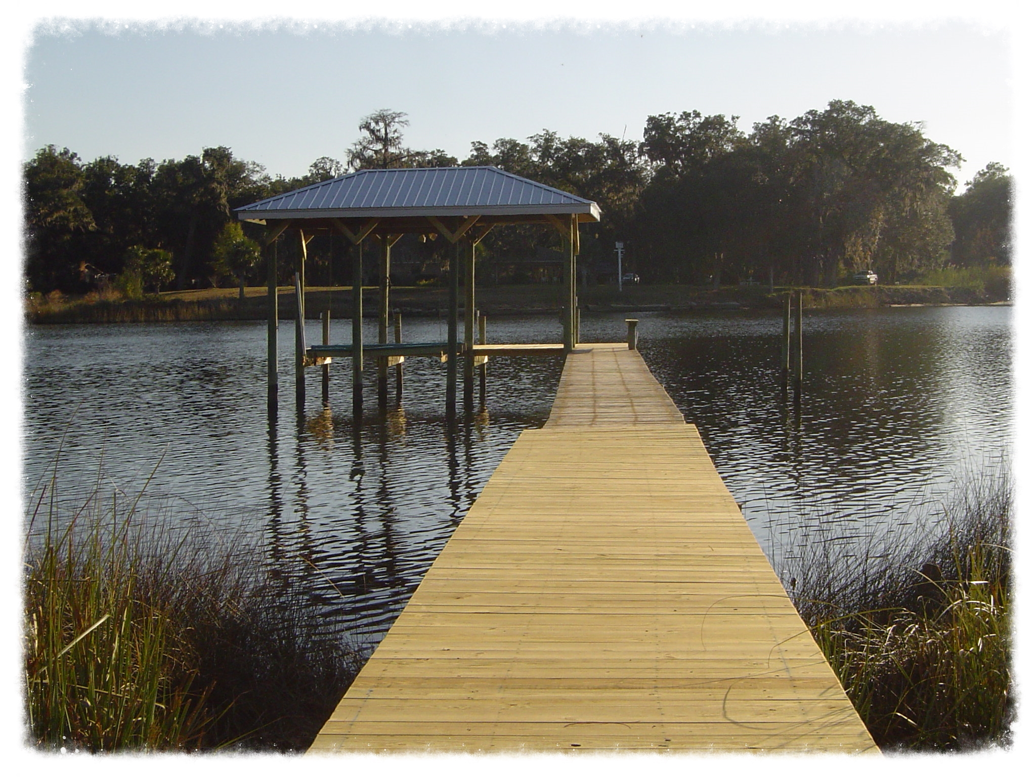 Boardwalk and boathouse