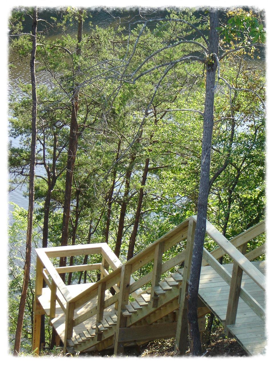 Wood Boardwalk and Handrail