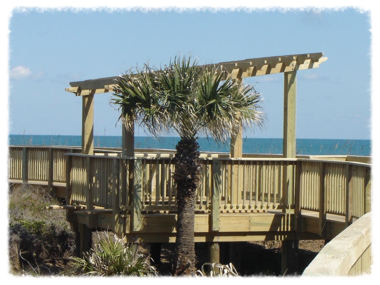 Boardwalk with Pergola