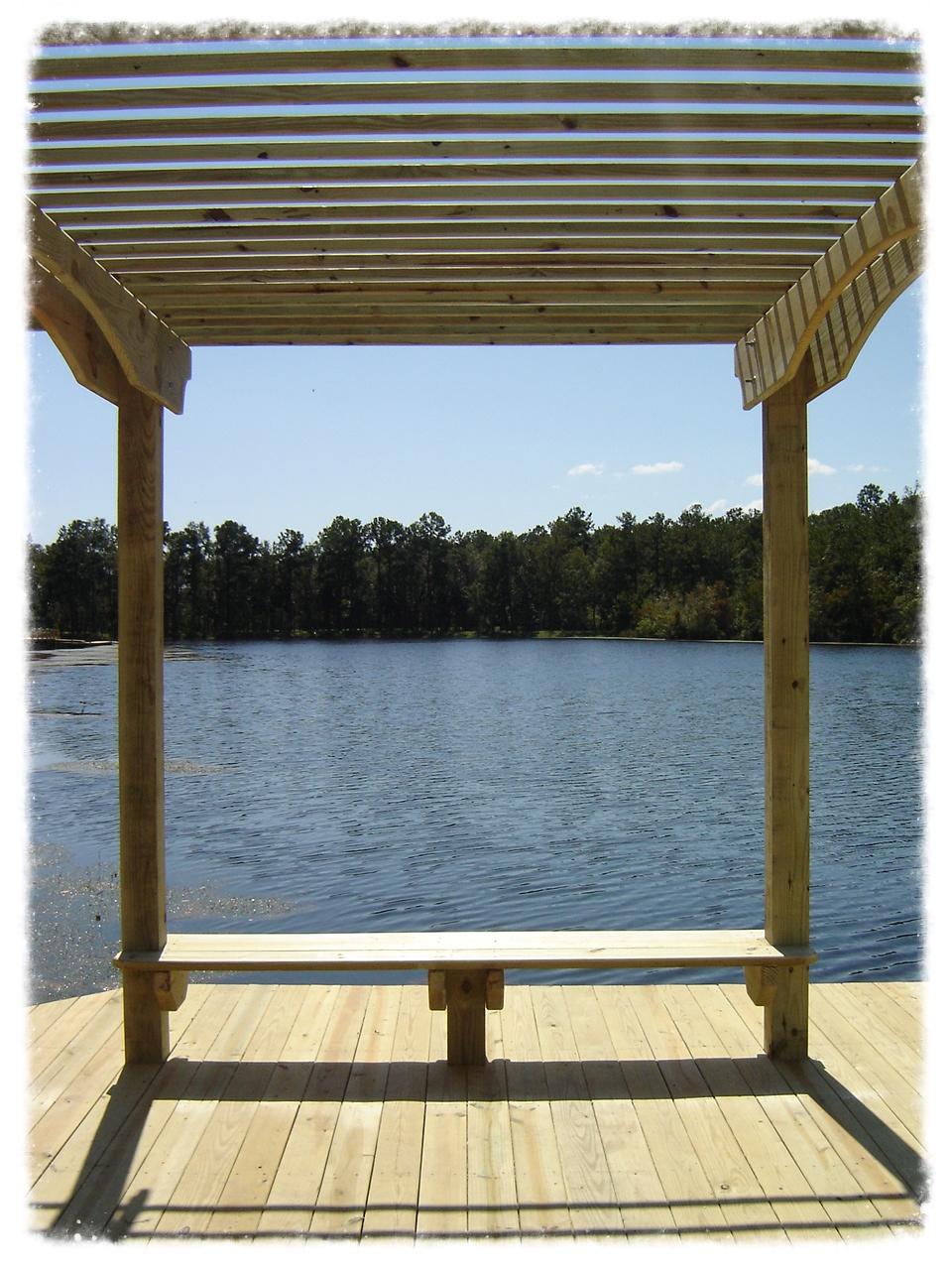 Dock with Pergola on Lake