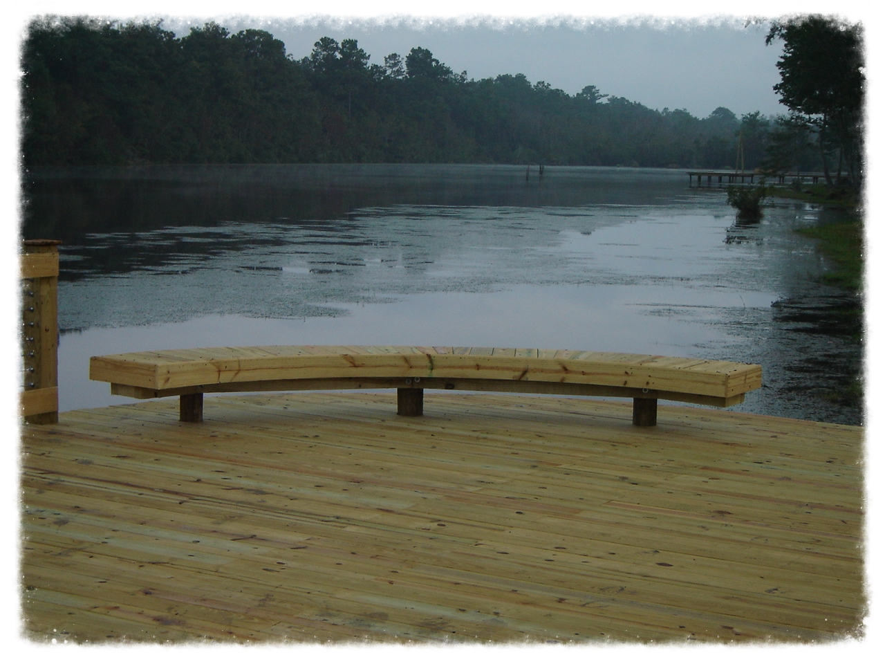 Fishing Dock with Bench