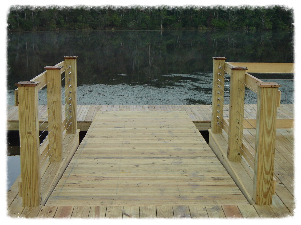 Dock with Handrail