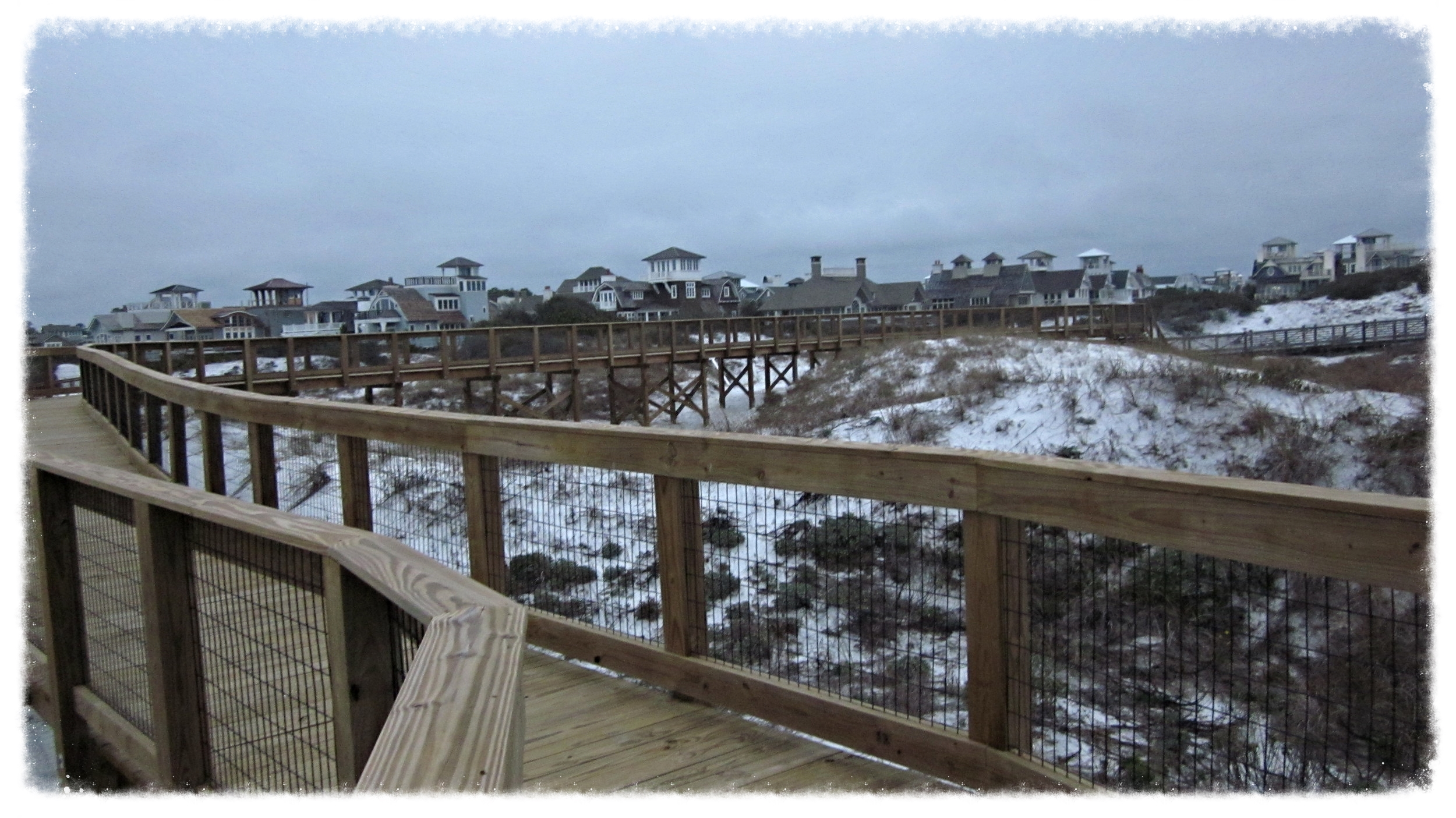 Wooden Boardwalk Construction