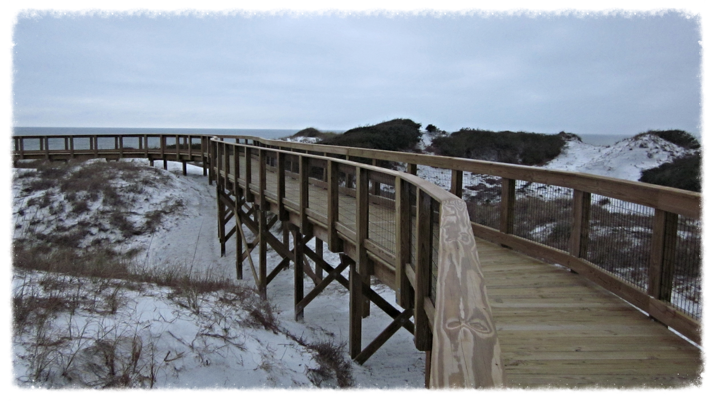 Top Down Wooden Boardwalk Construction