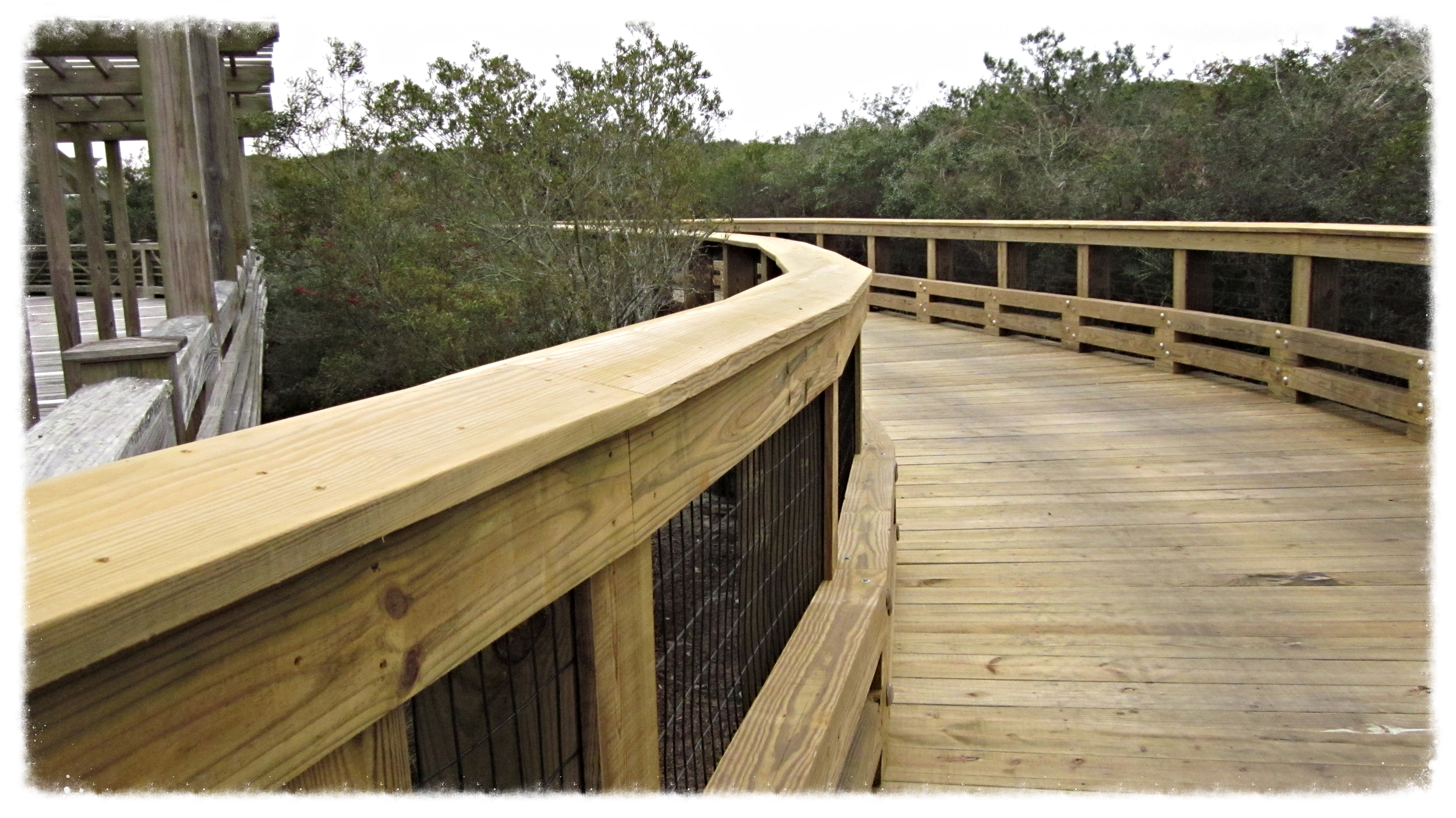 Wooden Boardwalk Dune Crossing Construction