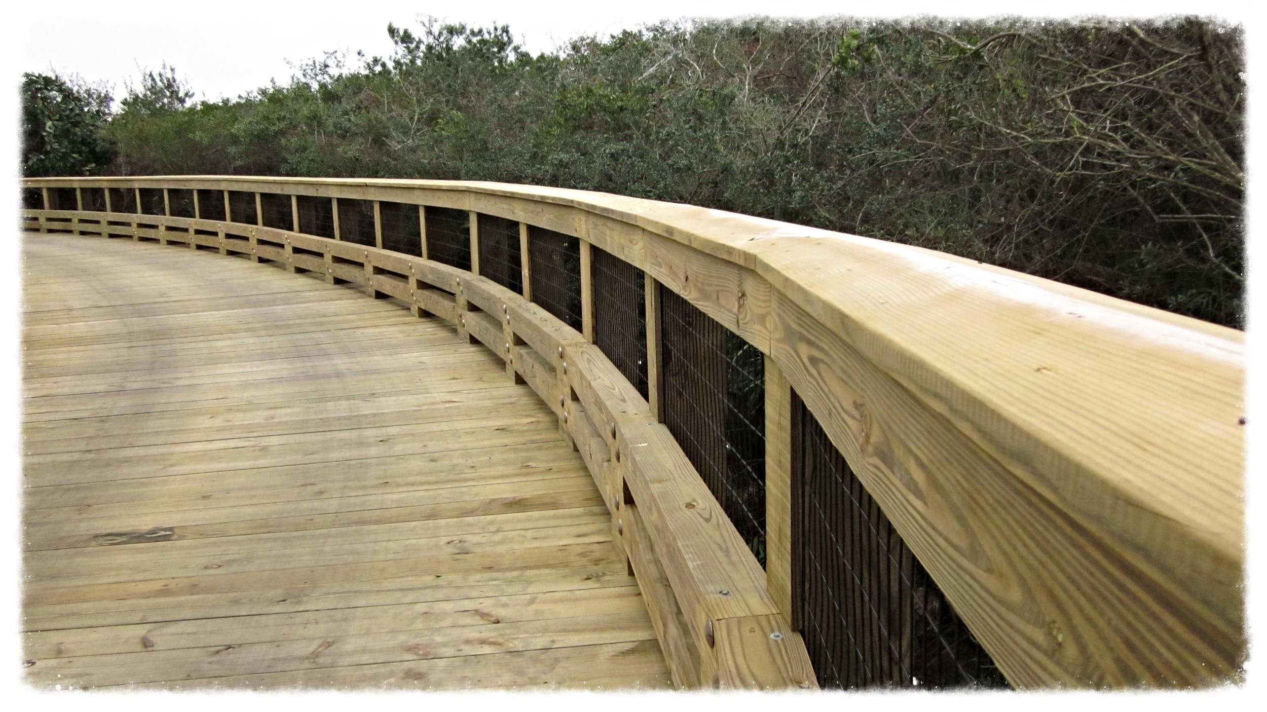 Timber Boardwalk Construction with Beach Access