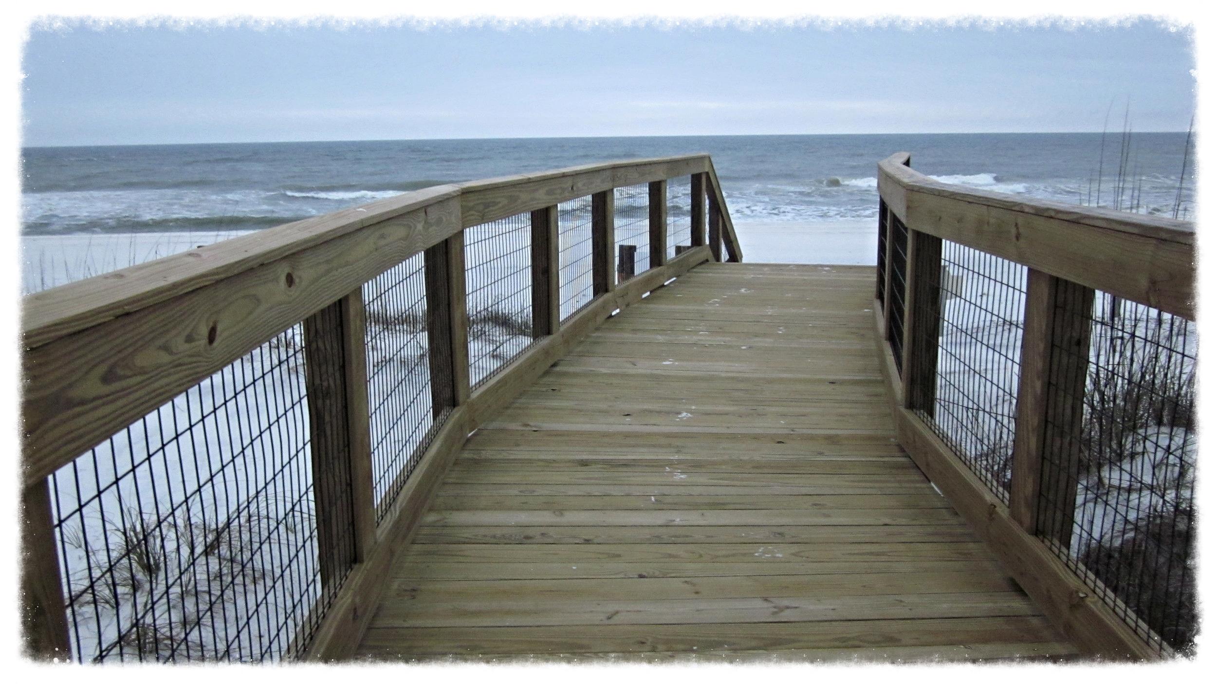Timber Boardwalk Beach Crossing Construction