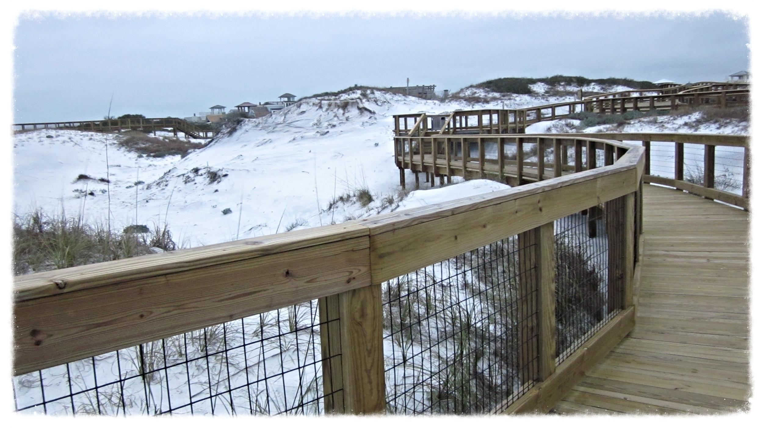 Wooden Beach Boardwalk Design and Construction