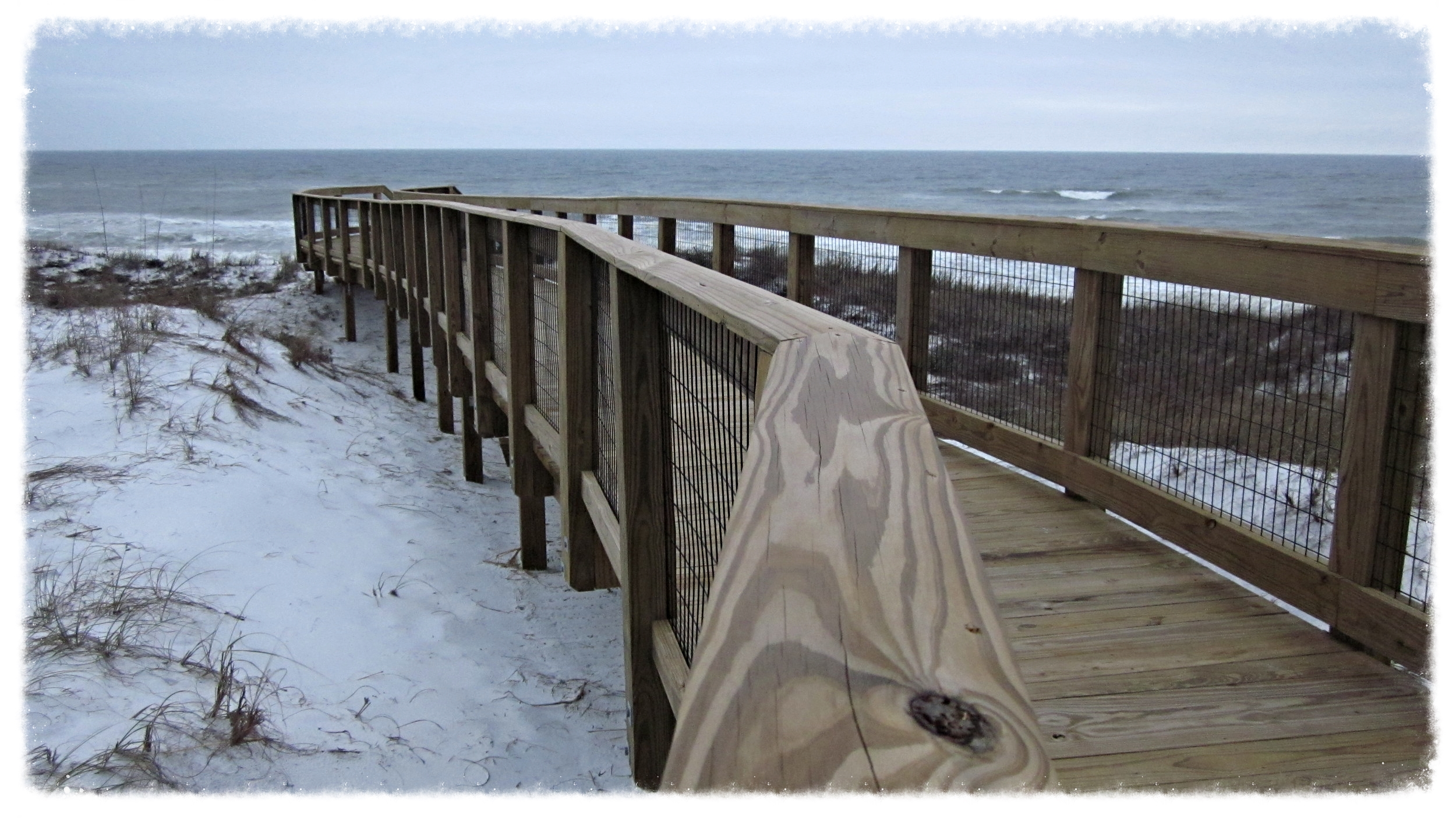 Wood Boardwalk Dune Crossover Construction