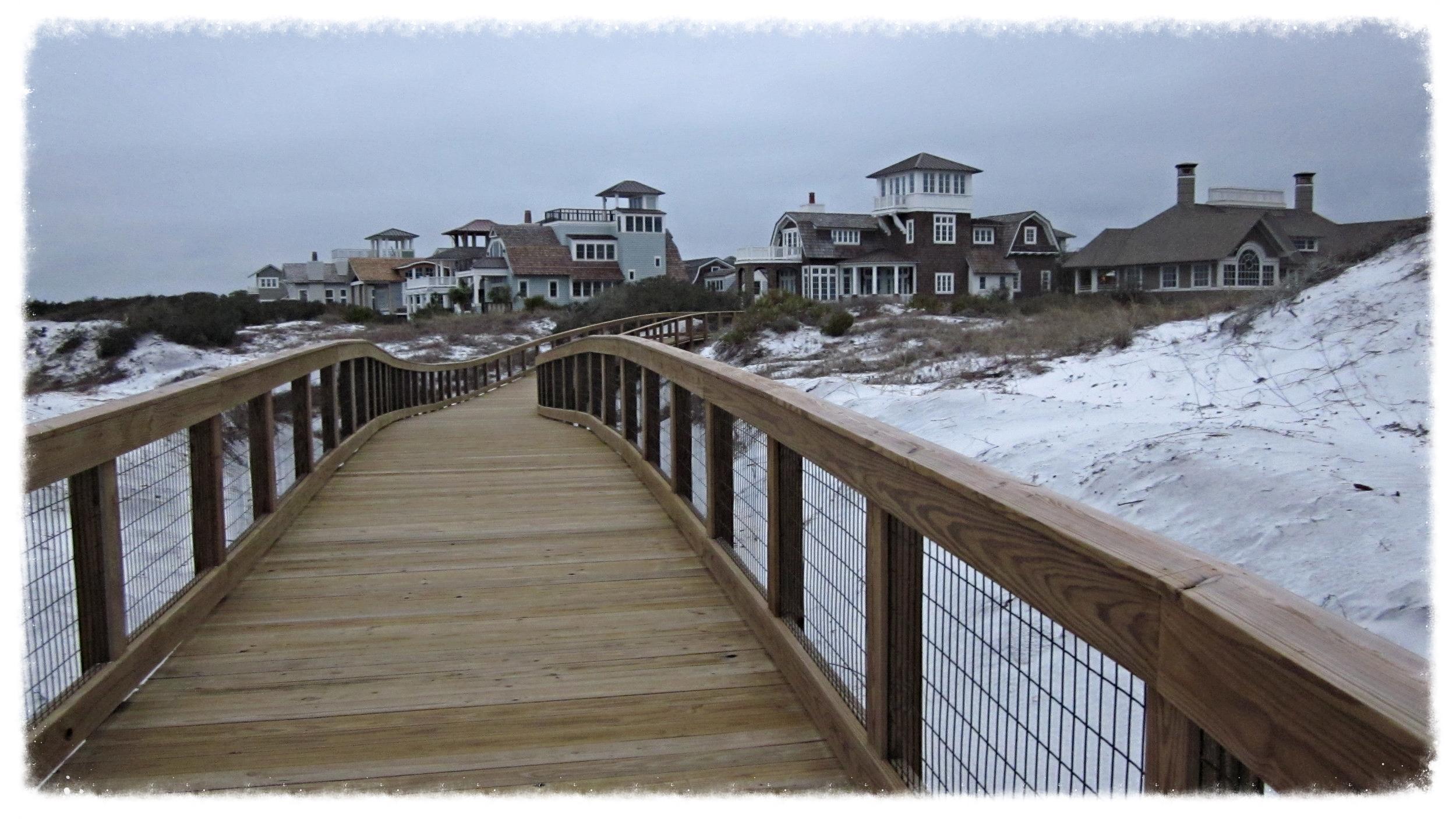 Wood Timber Boardwalk Construction