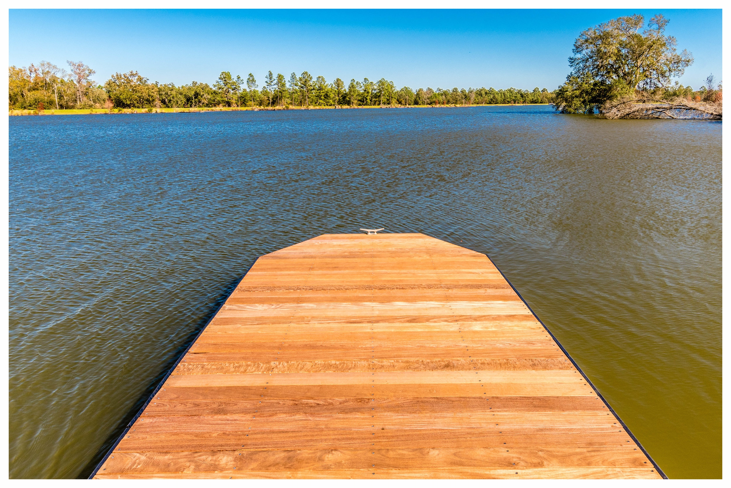 Wood Boardwalk Fishing Dock