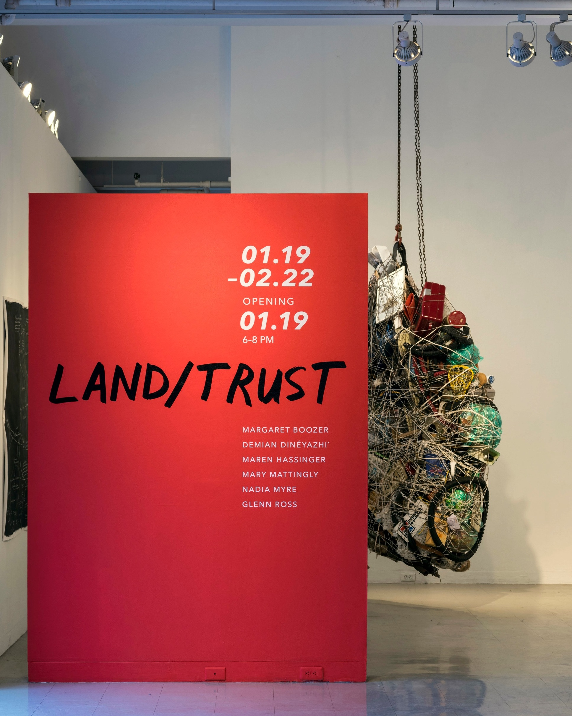 Land/Trust  marquee (design by Maria Habib and Allie Linn)