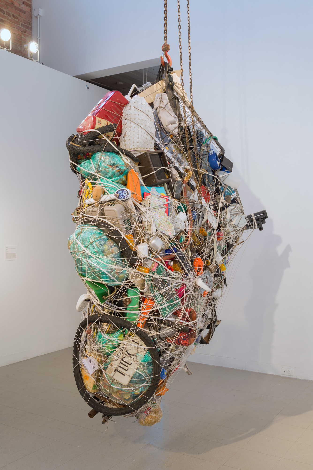 Mary Mattingly,  Blockade,  personal objects from Baltimore community members and the artist, surplus rope, 2018