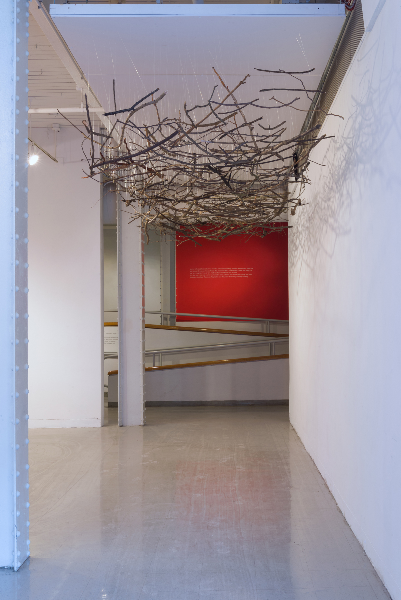 Maren Hassinger,  Blanket of Branches,  branches, 1986, recreated 2018