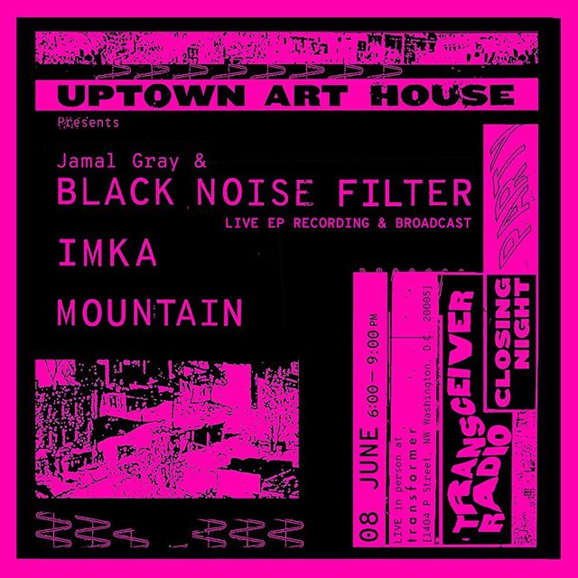 TOMORROW NIGHT is the CLOSING NIGHT of @transceiverradio at @transformerdc  TUNE IN TURN ON DROP OUT Performance  6:00–9:00 PM ((((( @uptown.arthouse presents BLACK NOISE FILTER recording/broadcasting their LIVE EP [ feat. @aquatic.gardener ] w/ special guests IMKA [ @officialimka ] & Mountain [ @itsmntn ] !!! (((((It's gonna be a night of mind expanding sounds))))) It's also PRIDE, so get there early and be ready to celebrate! ))))) #artistradio #radioart #transceiverradio #communityradio #blacknoisefilter #dcmusic #jazz #ambient #hiphop #poetry #housemusic #electronicmusic #dcpride @micacuratorial