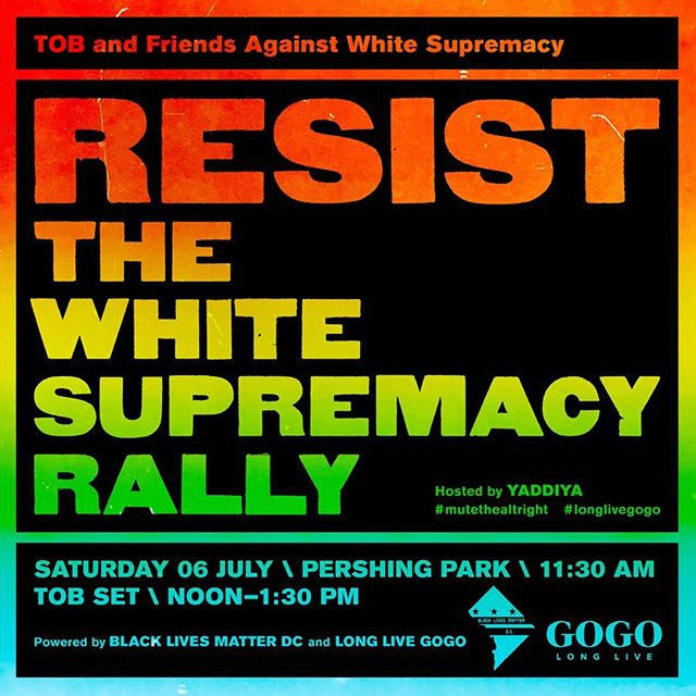 Tomorrow! #longlivegogo #mutethealtright #blacklivesmatter #blacklivesmatterdc