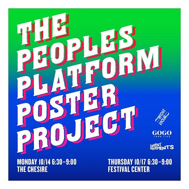 See you tomorrow for workshop #1 of The People's Platform Poster Project!  Presented by @currentmovements @_nomu.nomu_ & @longlivegogodc  Posters by @yefry_rutamare 🔥 *** In conjunction with the @yaddiya For Mayor 2022 is he really running??? campaign, The People's Platform Poster Project is a reaction to the failures of the mayor and the city's inaction.  We are highlighting the work of local organizing groups through a 6 Point Plan at the intersections of the pressing issues that face our beloved city.  Grassroots activism has been at the center of social change in this city for decades, and today is no different. Countless collectives work to make our city a better place, but it is not enough.  Substantial change is going to take ALL of us. From educating ourselves, to spreading the message on the streets, to running for office, to joining a community organizing collective—it is time for more!  The People's Platform Poster Project is a call to action for you, for the city, and for the mayor herself.  Come out to our Two-Day Workshop!  Each night we will be joined by amazing community groups and organizations working on the issues that matter to us in DC. Learn about their work, their upcoming campaigns, and how you can get involved!  We will also host wheatpasting workshops. Learn this organizing tool, and street art method from local artists.  Afterward help us flood the streets with these slogans and others.  Hope to see you there!  Workshop #1 October 14th 6:30–9:00p The Cheshire 2412 18th Street NW  1. ICE OUT OF DC: End Deportations & Detentions 2. WE KEEP US SAFE: Stop Over-Policing Our Communities 3. INVEST IN BLACK YOUTH: Fully Fund Ward 7 & 8 Schools  Workshop #2 October 17th 6:30–9:00p Festival Center 1640 Columbia Road NW  4. HOMES FOR PEOPLE NOT PROFIT: Build Affordable Housing  5. LONG LIVE GOGO: Keep culture & artists in DC 6. DC STATEHOOD NOW: Make DC the 51st State *** Posters created by amazing poster company based in Peru called Ruta Mare. @yefry_rutamare  #yaddiyaformayor  #nomunomu  #moechella  #longlivegogo