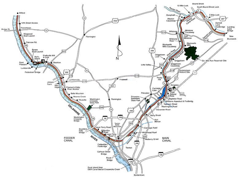 The D&R Canal Trail - New Jersey - 68 miles long