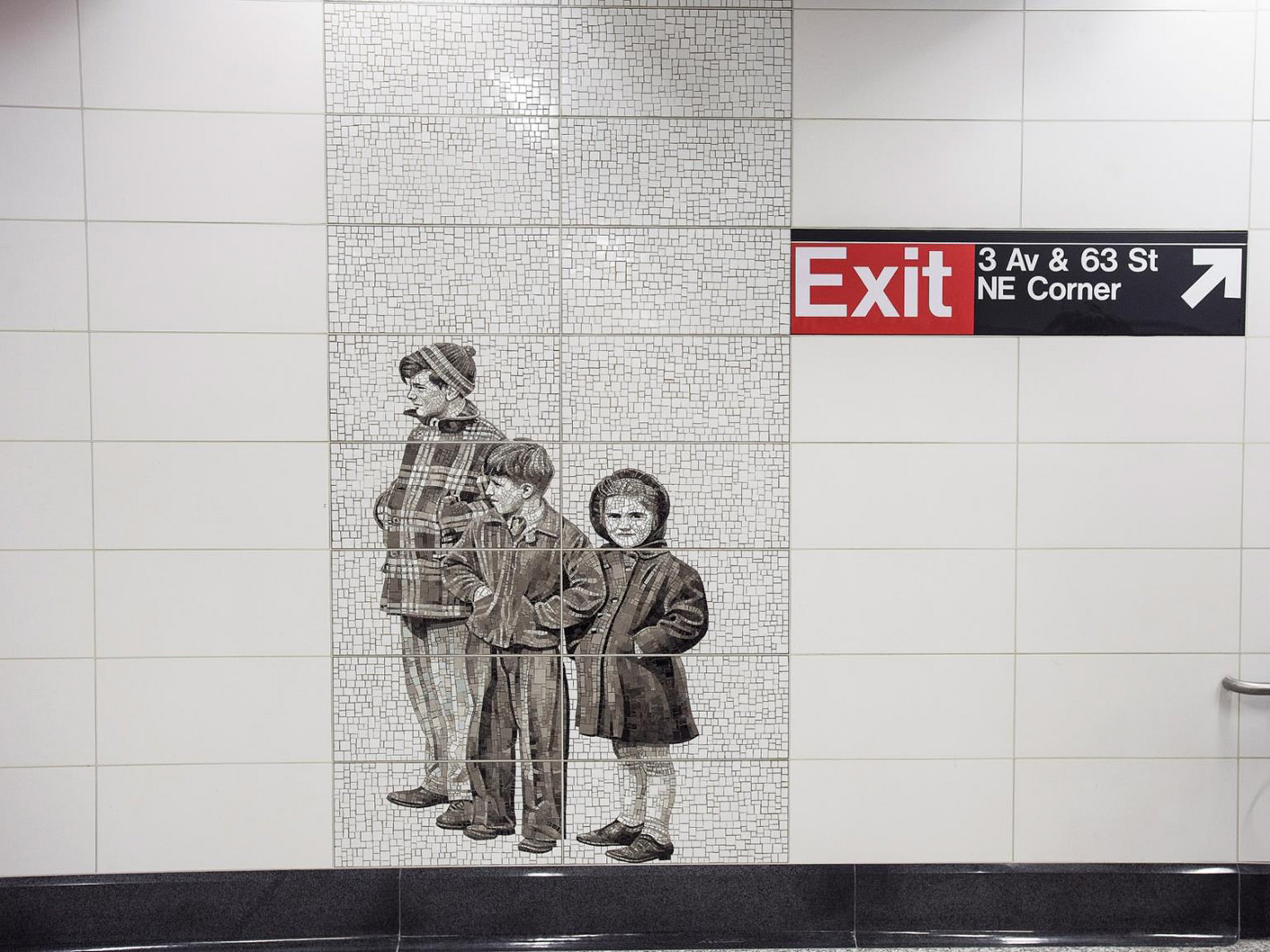 At the 63rd Street Station, Jean Shin used archival photographs for her subjects