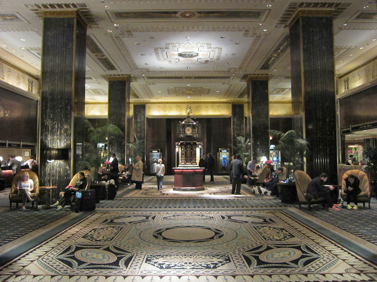 The Waldorf Astoria iconic interior inches closer to being landmarked. New York's Waldorf Astoria lobby. (Courtesy Alan Light / Flickr)