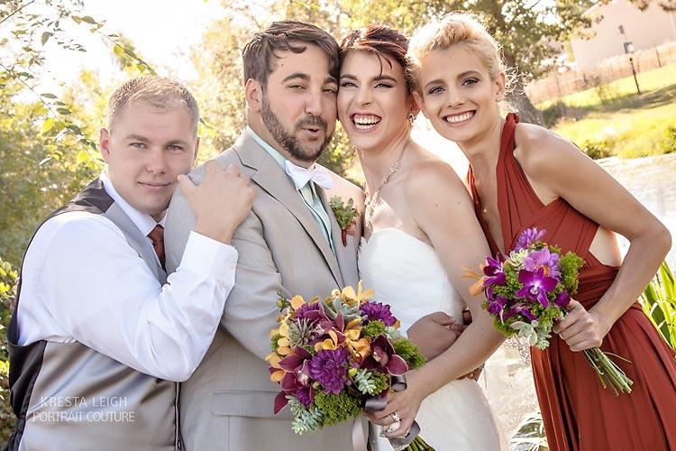 bridal party ogden utah wedding