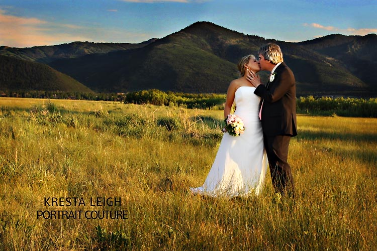 rustic mountain bride groom wedding