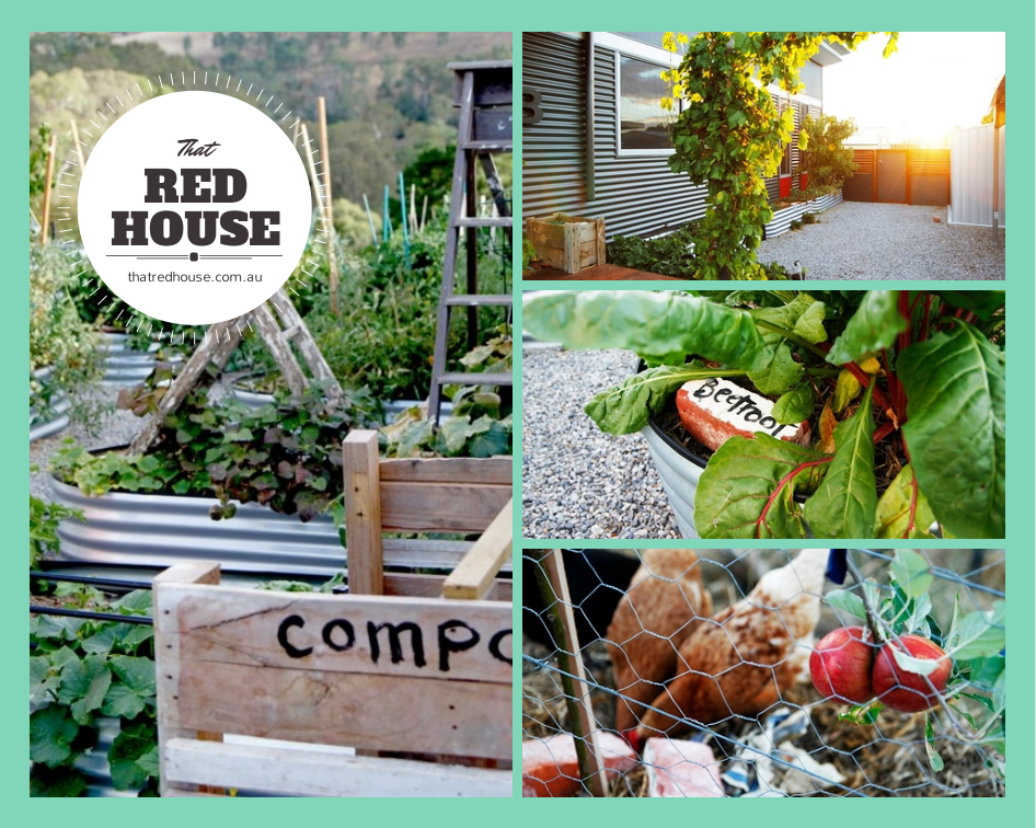 That Red House Collage
