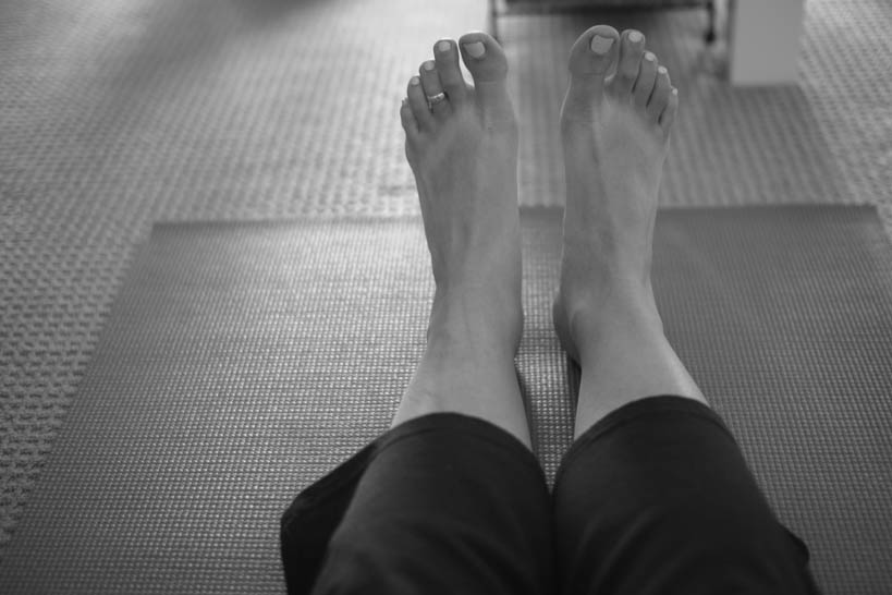 Yoga Feet || thinkbiglivesimply.com