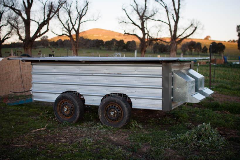 Chicken Tractor || thinkbiglivesimply.com