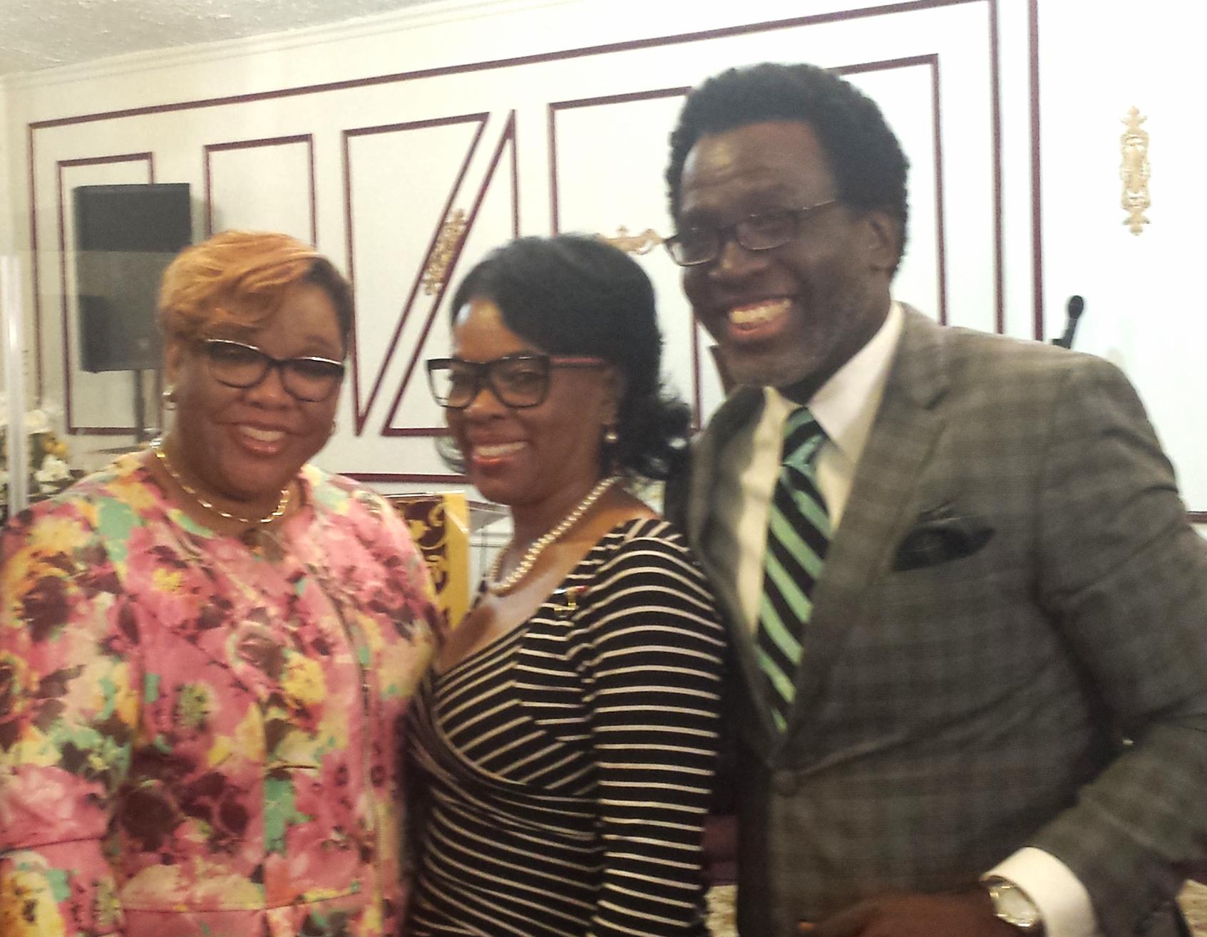 Left to Right:Pastor Robbin B. Hargrove, Apostle Kim A. Davis & Chief Apostle Eugene Smith