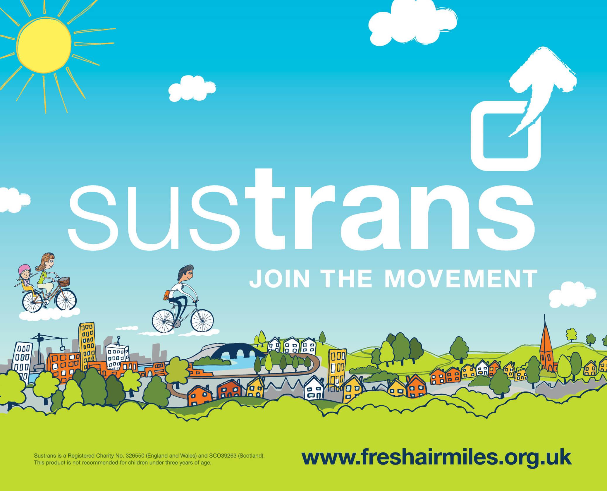 Sustrans - Collect Fresh Air Miles Flag 02