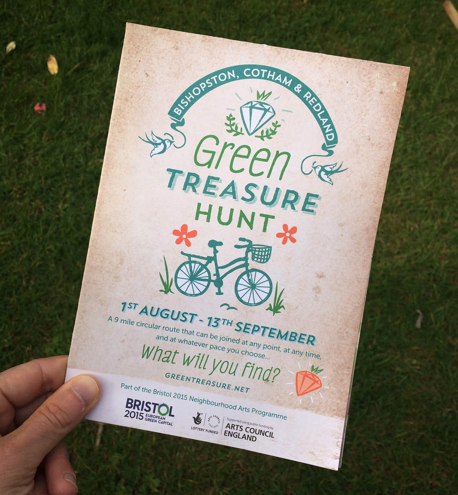 Green Treasure Hunt - Map/Leaflet