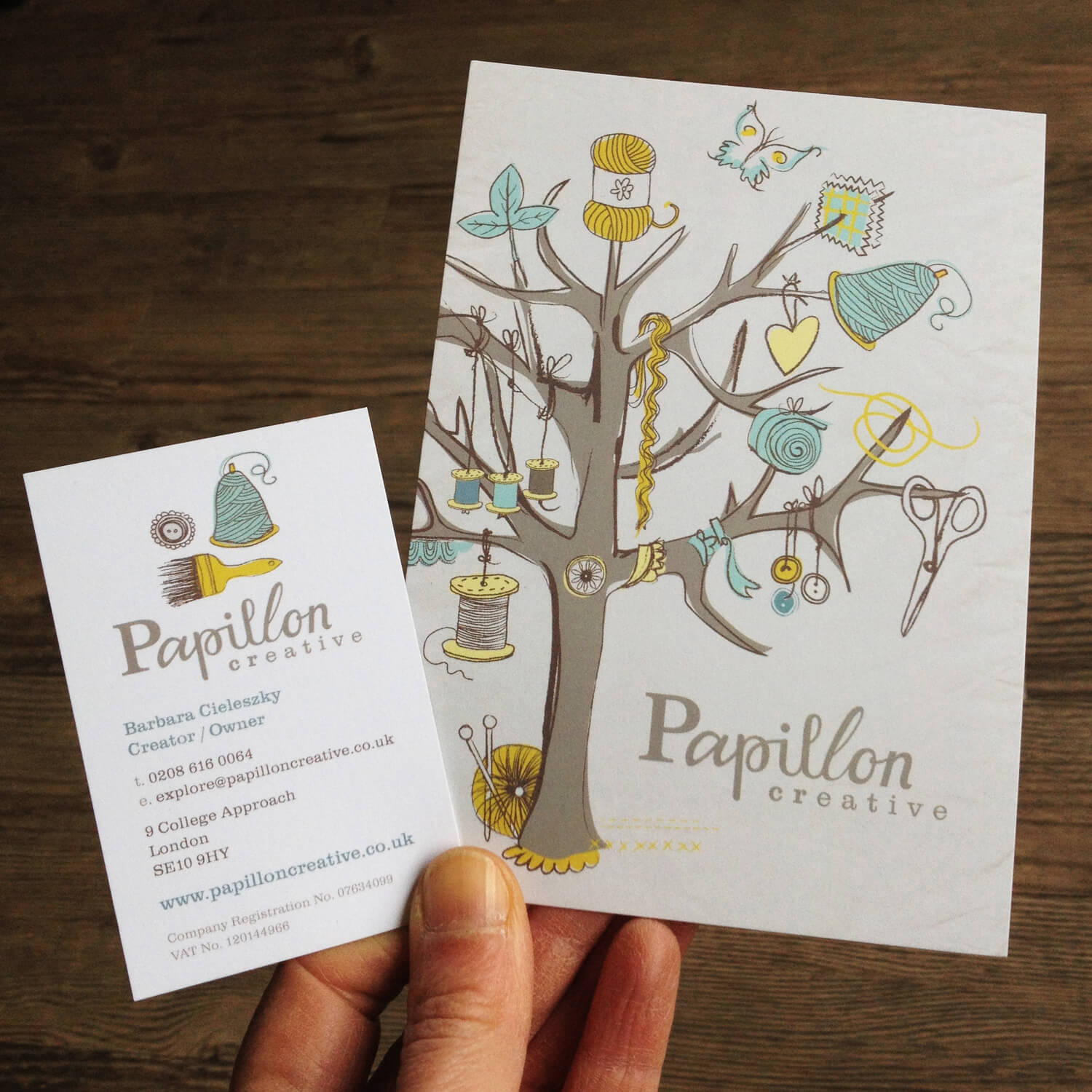 Business card and Postcard