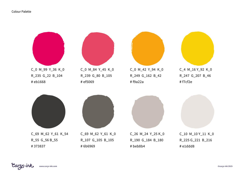 Ravenspoint Brand Colour Palette