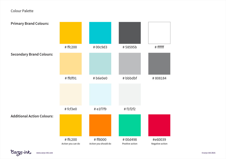HR Brand Colour Palette