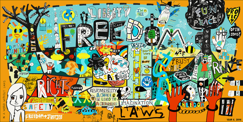 Freedom Collaboration Art Piece