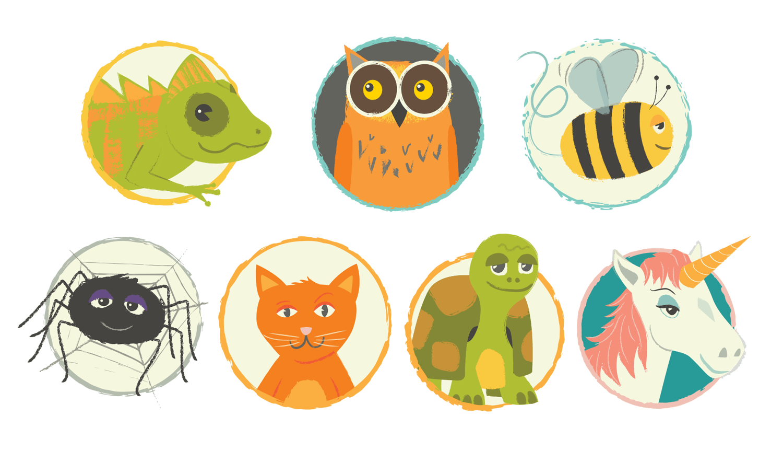 My original set of ELLI Character Icons