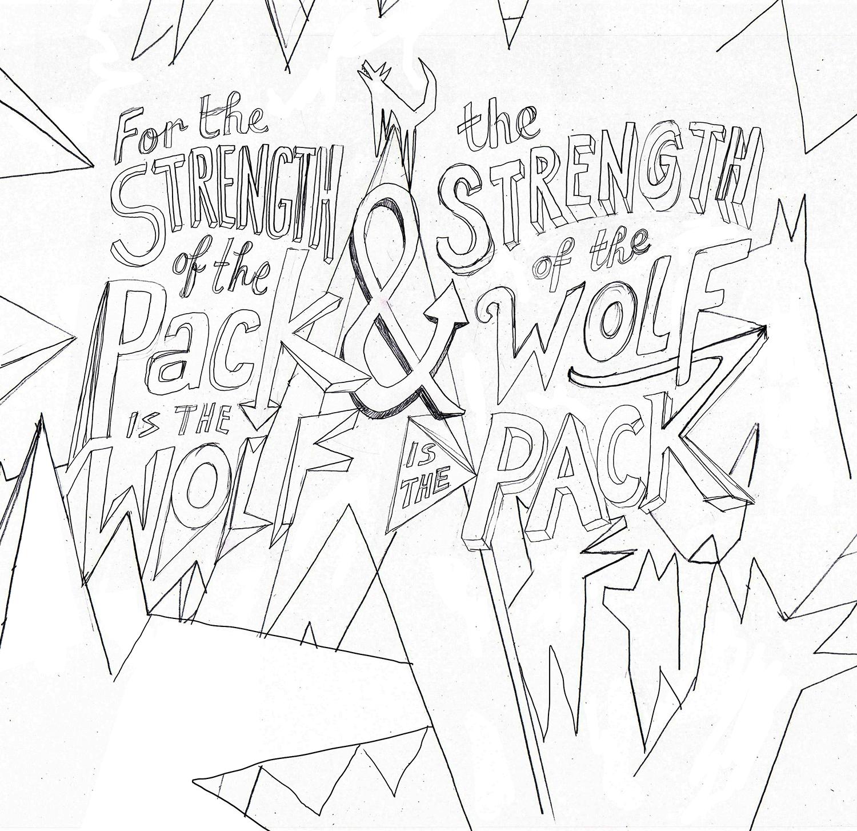 Initial pencil sketch