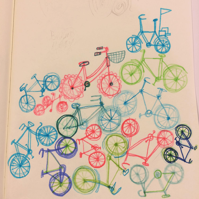 Doodle bike stack