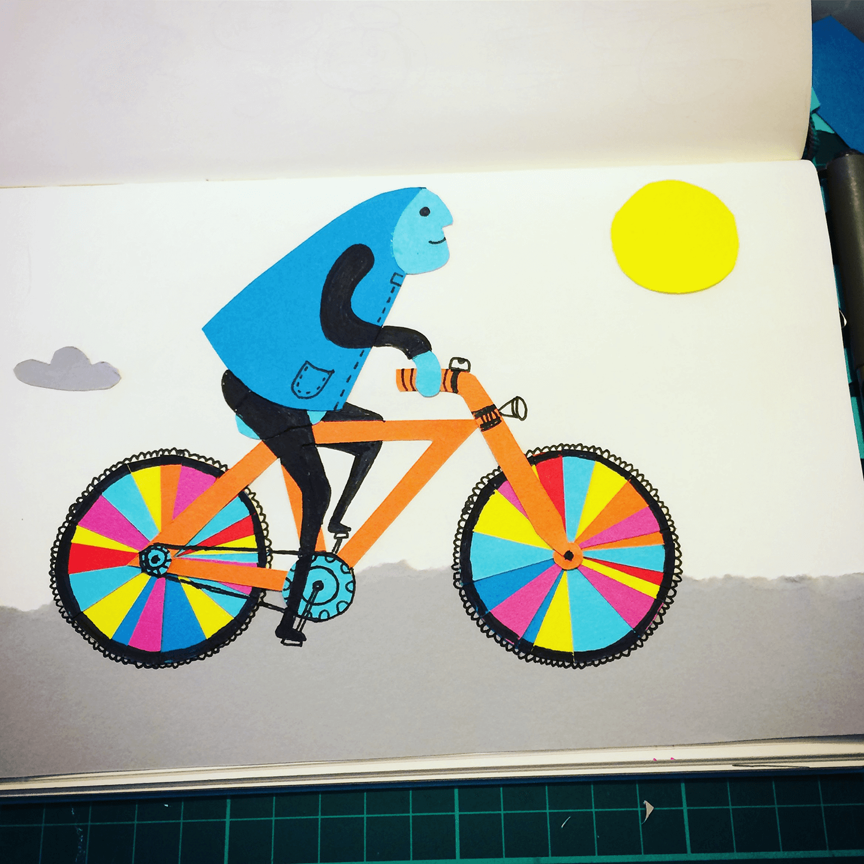 ...& riding those colour wheels